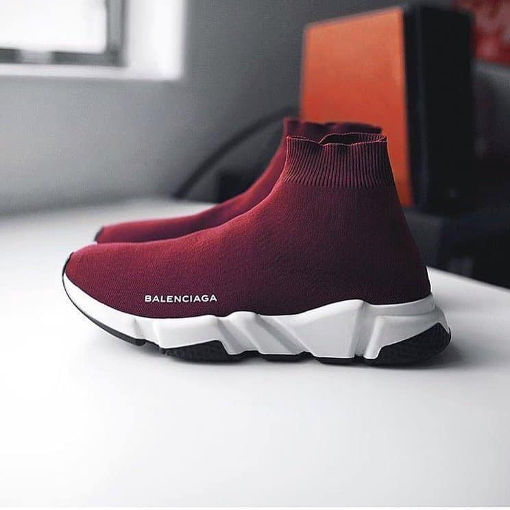 Balenciaga Wine Speed Trainers