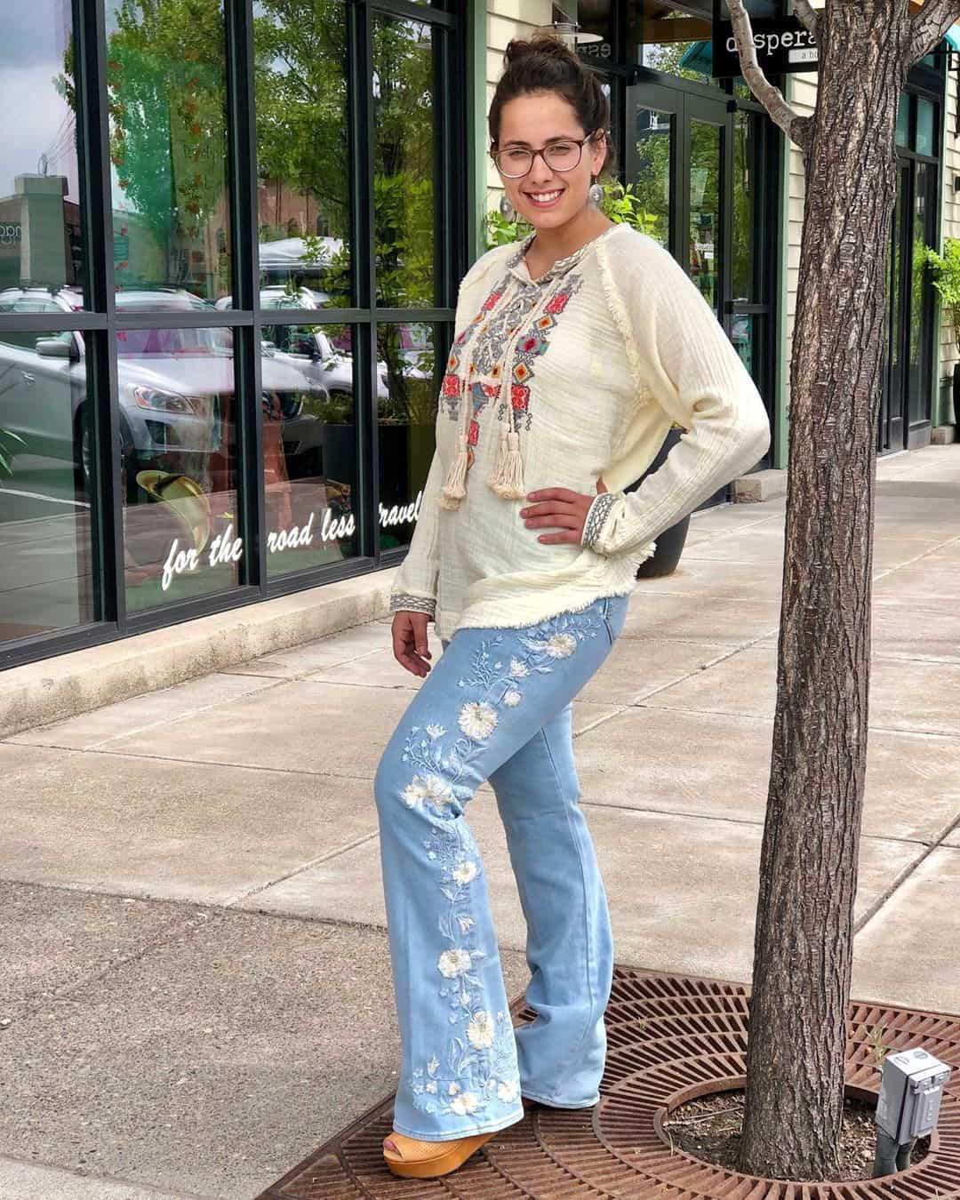 Bell Jeans with Embroidery