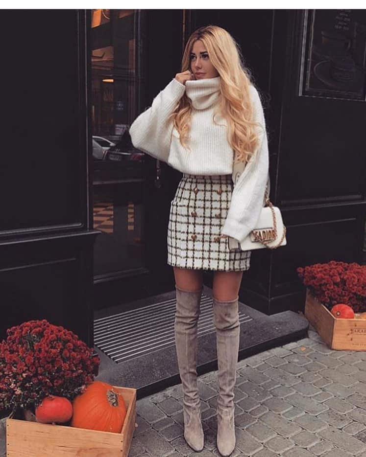 Cozy and Checked Skirt