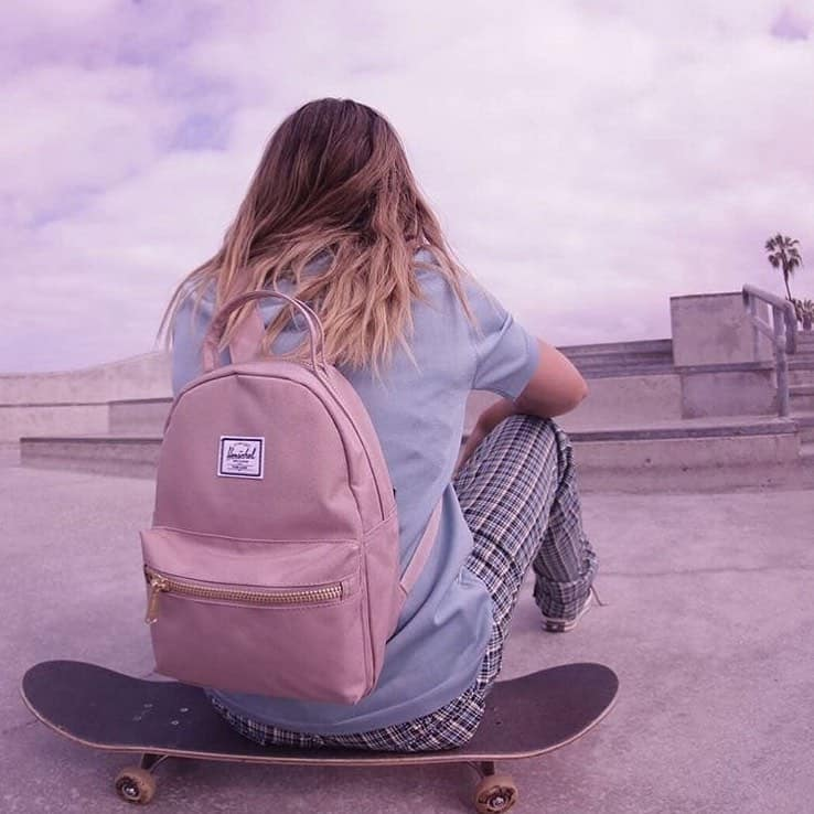 Pink Herschel Backpack