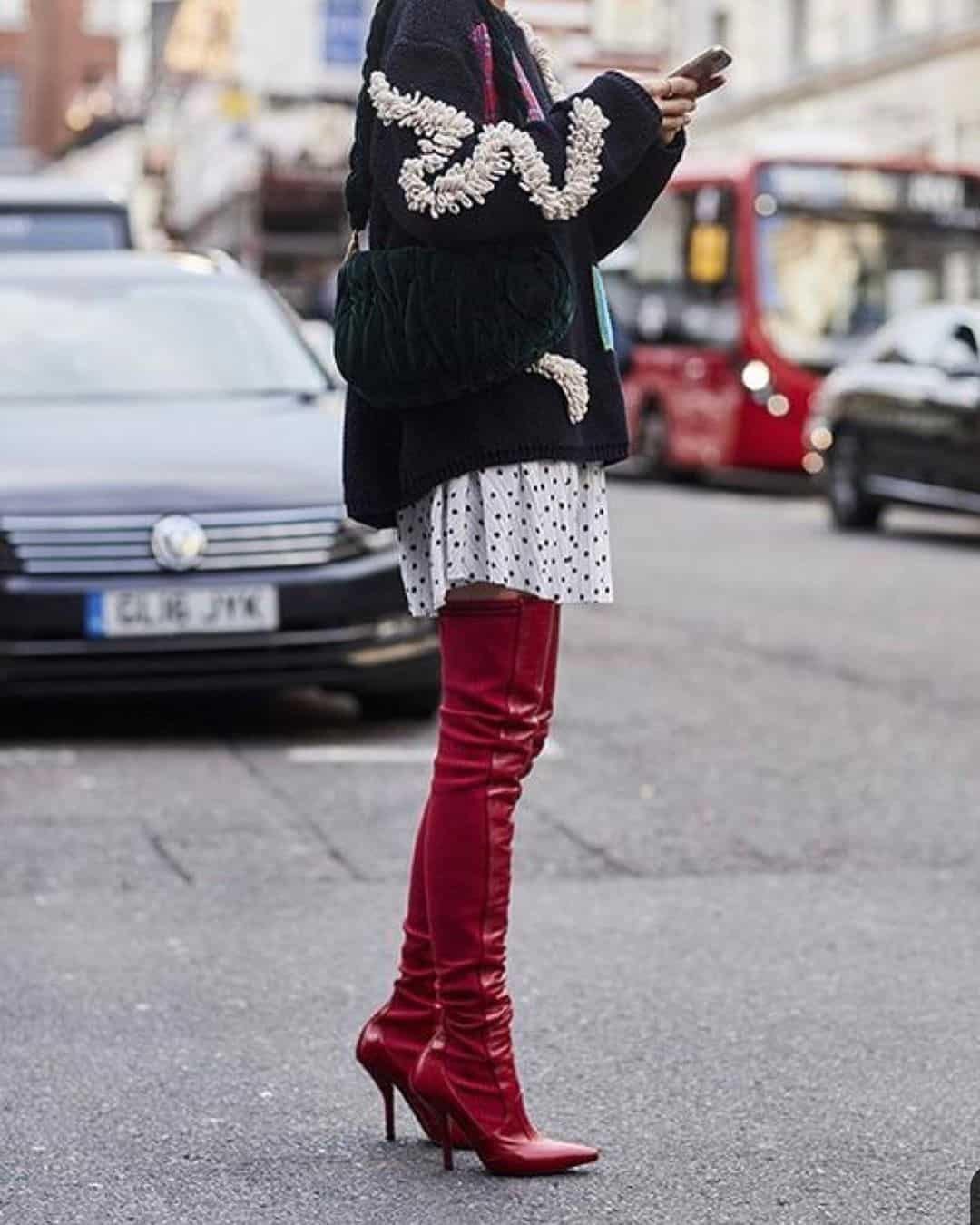 Red Over the Knee Boots