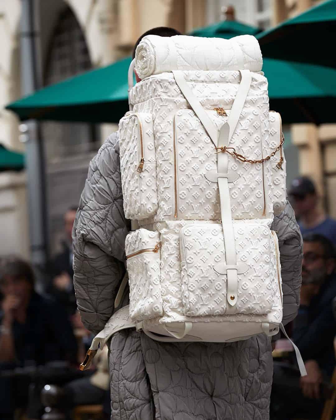 Trekking backpacks in tufted Monogram