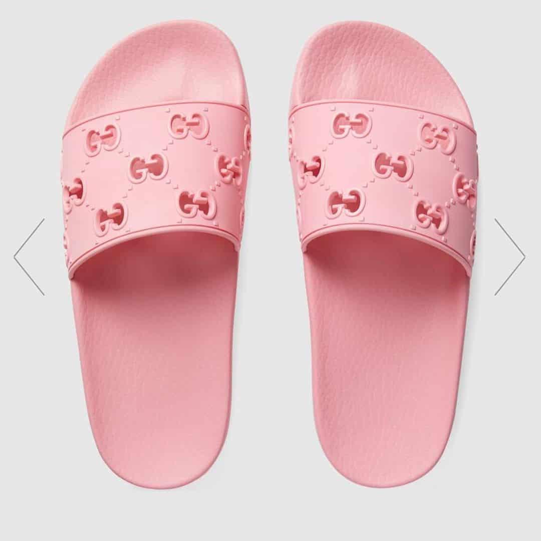 pink gucci flip flop